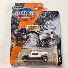 2018 Matchbox Color Changers Coyote 500 [White/Light Brown] 1/64 Scale Diecast