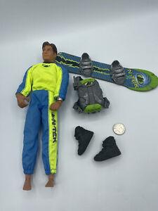 Vintage Max Steel N Tek SNOWBOARD Action Figure with Accessories 1998