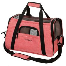 Premium Pet Carrier Airline Approved - Soft Sided w/ Fleece Bed