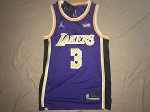 Rare Anthony Davis LA Lakers Jordan Brand Statement Jersey Sewn Stiched Dri Fit