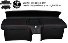 RED STITCH REAR STORAGE PANEL LEATHER COVERS FITS HONDA CRX DEL SOL 92-97