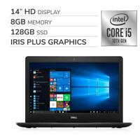 "NEW Dell 14"" 10th-Gen Intel i5-1035G4 3.7GHz 8GB RAM 128GB SSD Windows 10 Laptop"