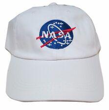 NASA Insignia Embroidered Baseball Cap Hat White