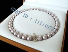"""shell pearl necklace 18"""" 12mm Aaa+ Purple south sea"""