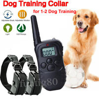 Dog Shock Training Collar 300 Yards Remote Waterproof for Large Med Small Dogs