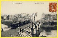 cpa Cachet GARE d'EPERNAY 1907 TRAIN du CHEMINS de FER de la BANLIEUE de REIMS