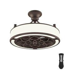 Home Decorators Windara LED Indoor/Outdoor Drum Ceiling Fan Bronze with Remote