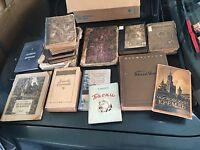 Lot 14 Livres XIX XX eme RUSSE Ancien Russian Book Old России книга