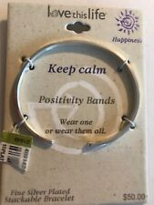 KEEP CALM Stackable Bracelet Cuff Positivity Bands Love This Life FREE SHIPPING!