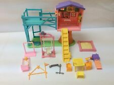 2001 Mattel Barbie Kelly Secrets Clubhouse Treehouse Playset + Sandbox