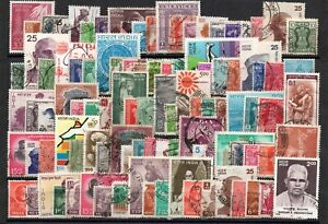 """INDIA ( A )  -  ONE  HUNDRED  STAMPS  -  ALL  DIFFERENT  """" ."""