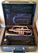 BESSON 700 / 723 CORNET in Hard Case Silver Plated & Vincent Bach Mouthpiece