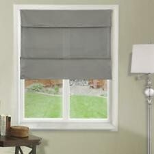 "Daily Grey Cordless Light Filtering UV Protection Roman Shades 23"" W x 64"" L"