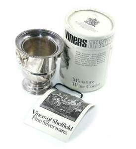 Vintage Viners of Sheffield silver plated miniature wine cooler in box