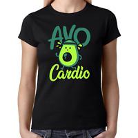 AVOCARDIO Avo Cardio Avocado Jogging Gym Sprüche Lustig Spaß Fun Damen T-Shirt