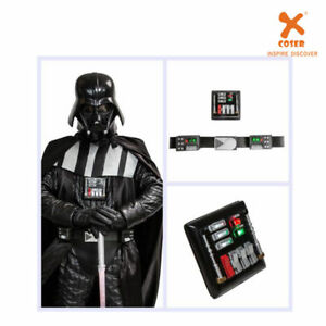 Darth Vader Leather Belt with Led Lights  Cosplay Costume Props Halloween Adult