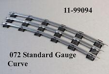 MTH LIONEL 072 CURVE STANDARD GAUGE TUBULAR TRACK SECTIONS 3 rail 11-99094 NEW