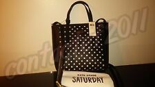 SALE! Kate Spade Saturday BLACK/ROSE VIOLET MINI Perforated Tote NEW WITH TAGS!