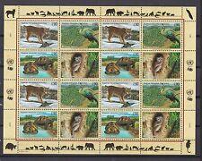 UNO Genf 2001 postfrisch MiNr. 409-412  Gefährdete Arten
