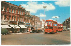 King Street, Twickenham, Routemasters, 1960s/70s postcard