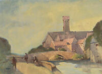 William Eyre (1891-1979) - Signed Watercolour, Bruges River Scene
