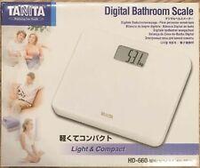 TANITA Digital Bathroom Scale White HD-660-WH Health F/S w/Tracking# Japan New