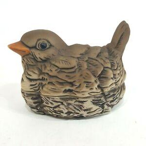 Vintage Bird Ceramic Candle Holder Stacked Laying Nest Decor Figure Ornithology