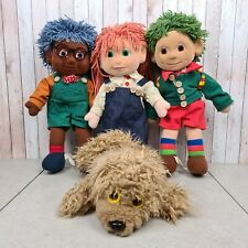 Tots TV 1993 Tilly, Tom, Tiny & Furryboo Large Plush Soft Toy Vintage Rag Doll