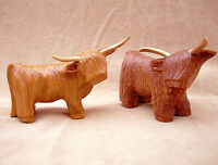 carved wooden highland cow,coo,cattle,,Scottish