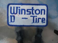 """VINTAGE """" WINSTON  D - TIRE """" SEW ON FABRIC PATCH  4.5"""" W X 2.5"""" T"""