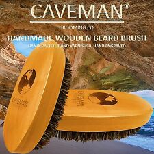 Handcrafted Beard & Hair Brush 100% Boar Bristles Beard by Caveman®  All Hair