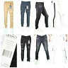 Men's Jordan Craig Slim Fit Skinny Super Stretch Denim Ripped Biker Jeans 32-44