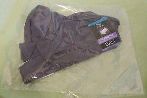 New Bali One Smooth U Brief Smooth Tummy Nylon Panties 9/2XL Charcoal Gray