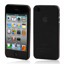 Ultra Thin Apple iPhone 4 4S 0.3mm Hard Protective TPU Cover Case Black