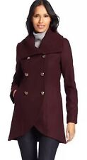 NWT Kenneth Cole Women's New York Women's Double Breasted Tulip Coat Size 4 $228