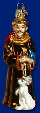 SAINT FRANCIS OF ASSISI OLD WORLD CHRISTMAS GLASS CATHOLIC ORNAMENT NWT 24061