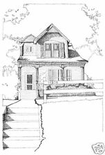 Victorian Shingle Style home for a narrow lot - detailed plans, charming porch