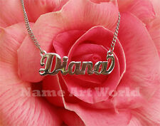 personalized name necklace made with stainless steel-life time warranty for rust