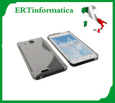 CUSTODIA MORBIDA COVER TPU ALCATEL ONE TOUCH IDOL BIANCO TRASPARENTE OT 6033X