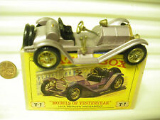 MATCHBOX 1961 YESTERYEAR Y7 LILAC 1913 MERCER RACEABOUT TYPE 1 FENDERS MINT BXD*