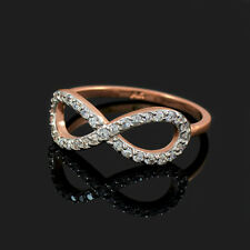 10k Rose Gold Studded Infinity Ring (Made in USA)
