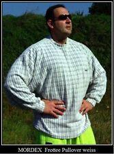 weisser Fleecesweater Gym Fitness Bodybuilding Freizeit Sport von MORDEX