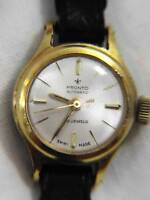 PRONTO AUTOMATIC 20MK GOLD PLATED LADIES WATCH SWISS