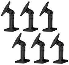 Black - 6 Pack Lot - Universal Wall or Ceiling Speaker Mounts Brackets fits BOSE