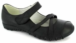 LADIES FLAT NEW STRAPS COMFORT CASUAL FLAT WORK WOMEN'S FORMAL SHOES SIZE 3-8