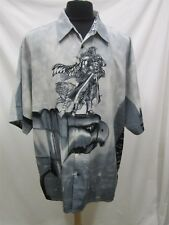 MENS XL UP RO'S BLACK WHITE S/S CASUAL SHIRT 212