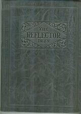 GHS Galesburg Illinois High School 1929 Reflector Yearbook PB Silver Streaks