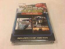 Nintendo DS Trans Formers Play and Watch Value Pack with Game & DVD - NEW SEALED