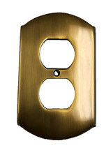 Arched Outlet Switch Plate Cover Antique Brass Finish