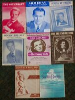 LOT OF 8 Vintage 1940'S SHEET MUSIC Judy Garland  (SM-2)